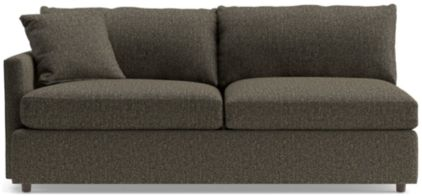 Lounge II Petite Left Arm Sofa shown in Taft, Truffle
