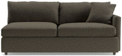 Lounge II Petite Right Arm Sofa shown in Taft, Truffle