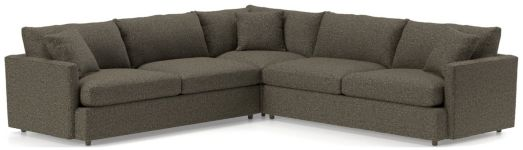 Lounge II Petite 3-Piece Sectional Sofa (Left Arm Sofa, Corner, Right Arm Sofa) shown in Taft, Truffle