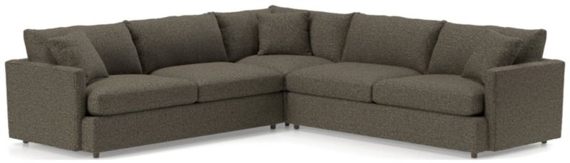 Lounge Ii Petite 3 Piece Sectional Sofa by Crate&Barrel