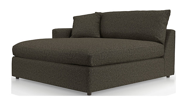 Lounge II Petite Left Arm Double Chaise shown in Taft, Truffle