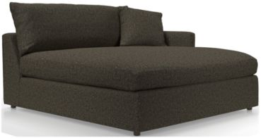 Lounge II Petite Right Arm Double Chaise shown in Taft, Truffle