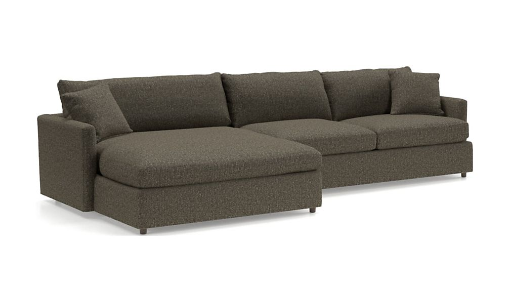 Lounge II Petite 2-Piece Left Arm Double Chaise Sectional Sofa - Image 2 of 3