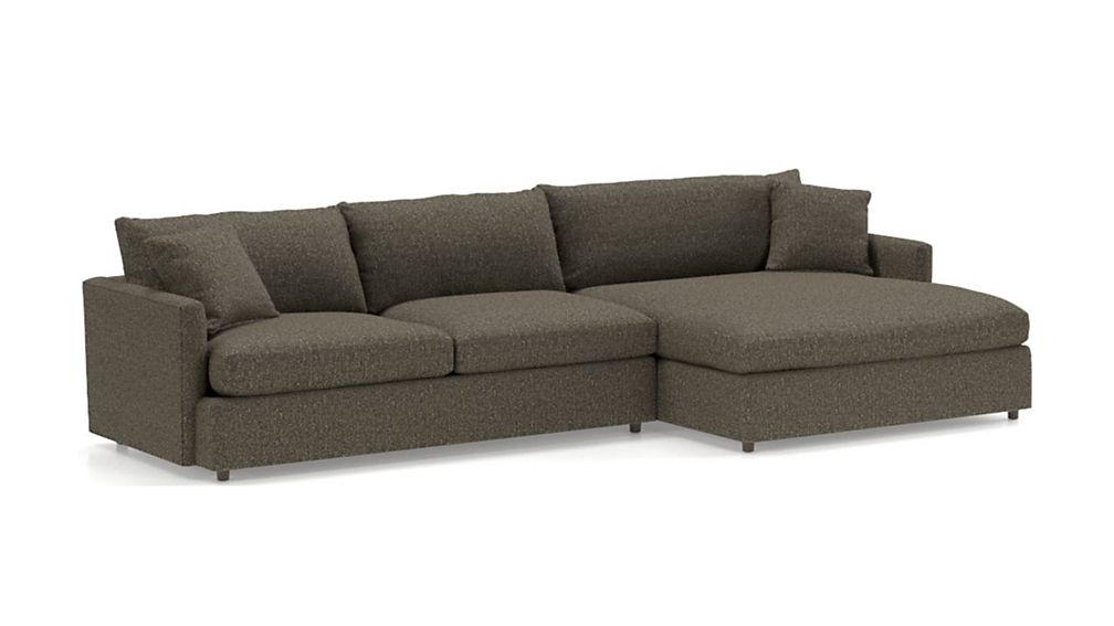 Lounge II Petite 2-Piece Right Arm Double Chaise Sectional Sofa - Image 2 of 3