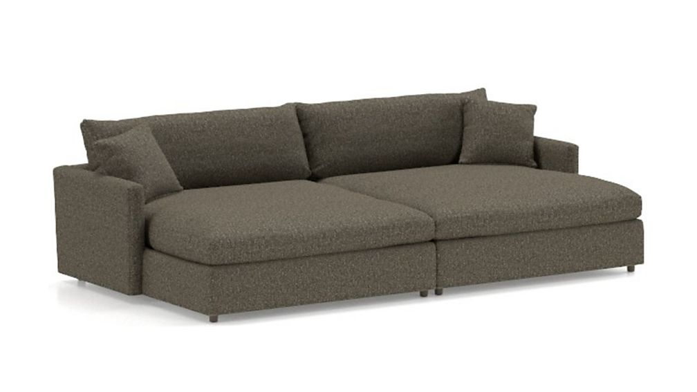 Lounge II Petite 2-Piece Double Chaise Sectional Sofa - Image 2 of 3