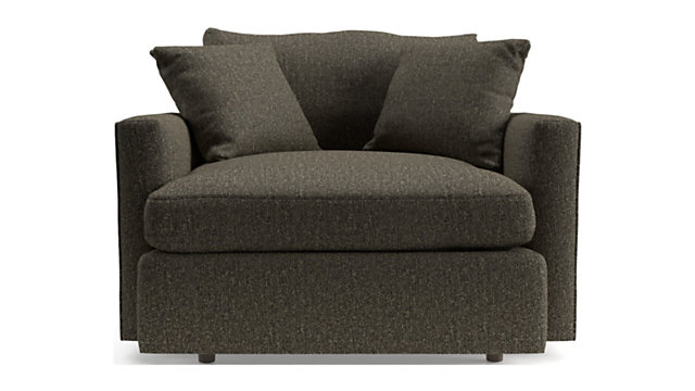 Lounge II Petite Chair and a Half shown in Taft, Truffle