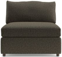 "Lounge II Petite 37"" Armless Chair shown in Taft, Truffle"