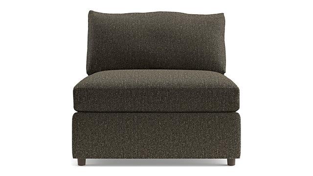 "Lounge II Petite 37"" Armless Chair shown in Taft, Truffle"