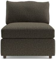 "Lounge II Petite 32"" Armless Chair shown in Taft, Truffle"