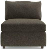 "Lounge II Petite 32"" Armless Chair shown in Taft, Truffle"