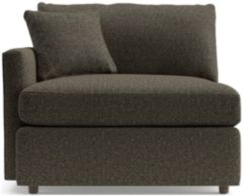 Lounge II Petite Left Arm Chair shown in Taft, Truffle