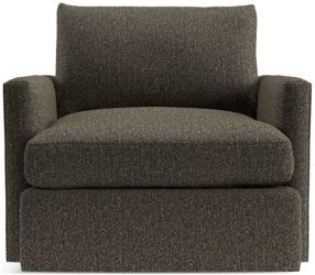 Lounge II Petite 360 Swivel Chair shown in Taft, Truffle