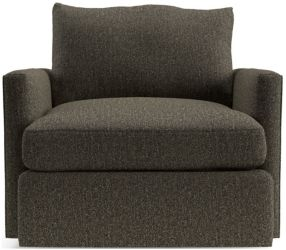 Lounge II Petite 360 Swivel Chair shown in Taft, Truffle