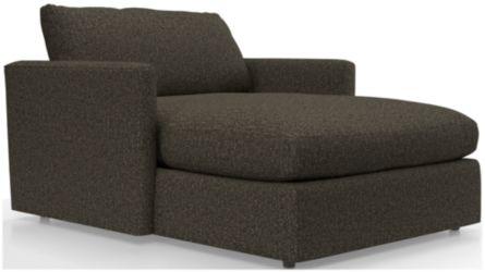Lounge II Petite Chaise shown in Taft, Truffle
