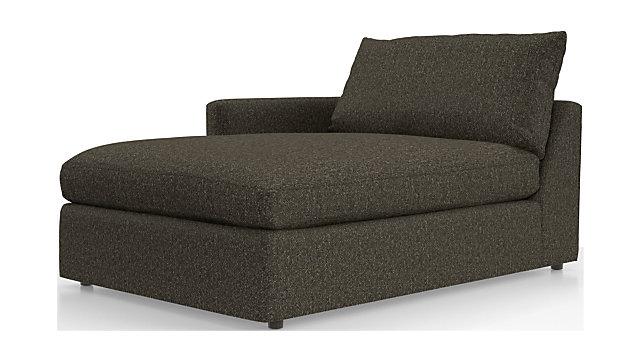 Lounge II Petite Left Arm Chaise shown in Taft, Truffle