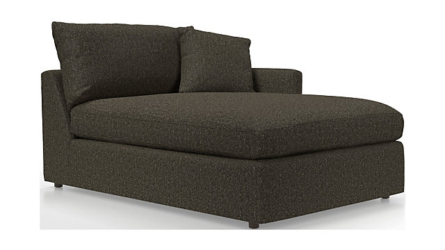 Lounge II Petite Right Arm Chaise shown in Taft, Truffle