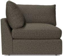 Lounge II Petite Corner Chair shown in Taft, Truffle