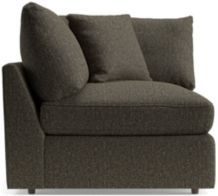 Lounge II Petite Corner Chair shown in Taft, Truffle