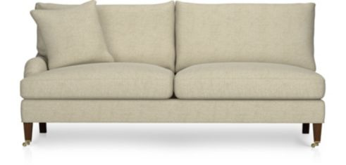 Essex Left Arm Sofa with Casters shown in Ruffin, Natural