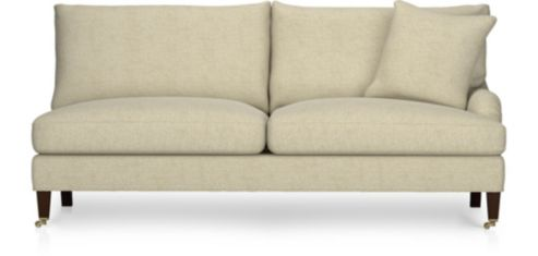 Essex Right Arm Sofa with Casters shown in Ruffin, Natural