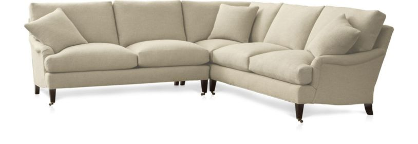 Essex 2-Piece Sectional Sofa with Casters (Left Arm Sofa with Casters, Right Arm Corner Sofa with Casters) shown in Ruffin, Natural