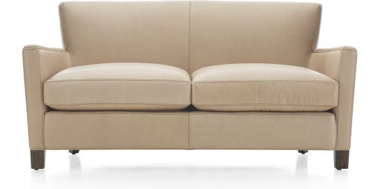 Briarwood Leather Loveseat shown in BelAire, Platinum