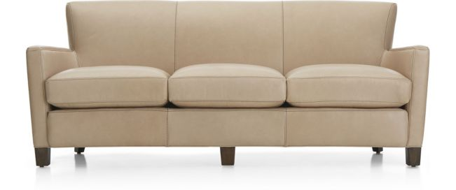 Briarwood Leather Sofa shown in BelAire, Platinum