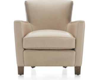 Briarwood Leather Club Chair shown in BelAire, Platinum
