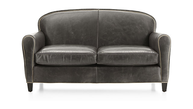 Surprising Eiffel Leather Loveseat Gmtry Best Dining Table And Chair Ideas Images Gmtryco