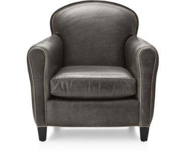 Eiffel Leather Chair shown in Citation, Dark Grey