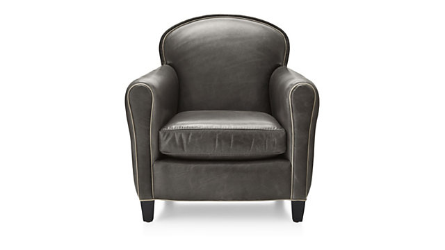 Eiffel Leather Chair shown in Citation, Dark Grey