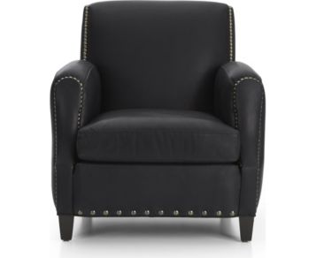 Metropole Leather Chair shown in Alfa, Midnight