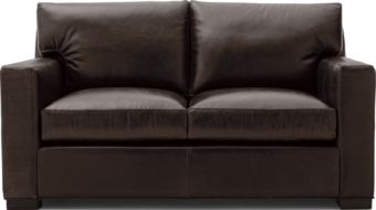 Axis II Leather Loveseat shown in Libby, Espresso
