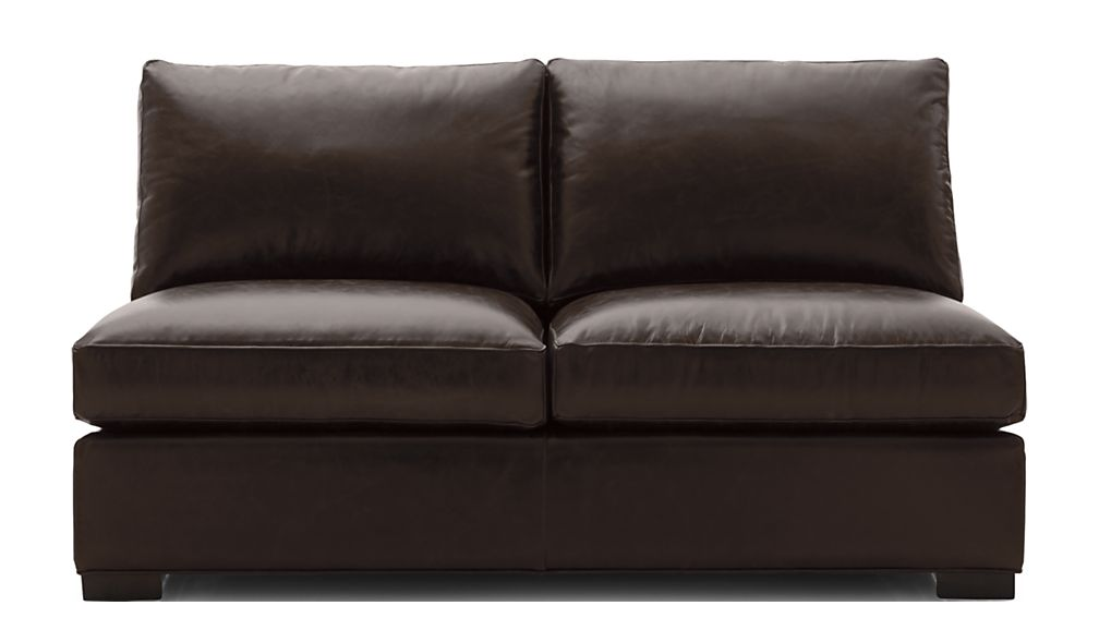 Axis II Leather Armless Loveseat - Image 2 of 5