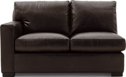 Axis II Leather Left Arm Loveseat shown in Libby, Espresso