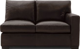Axis II Leather Right Arm Loveseat shown in Libby, Espresso