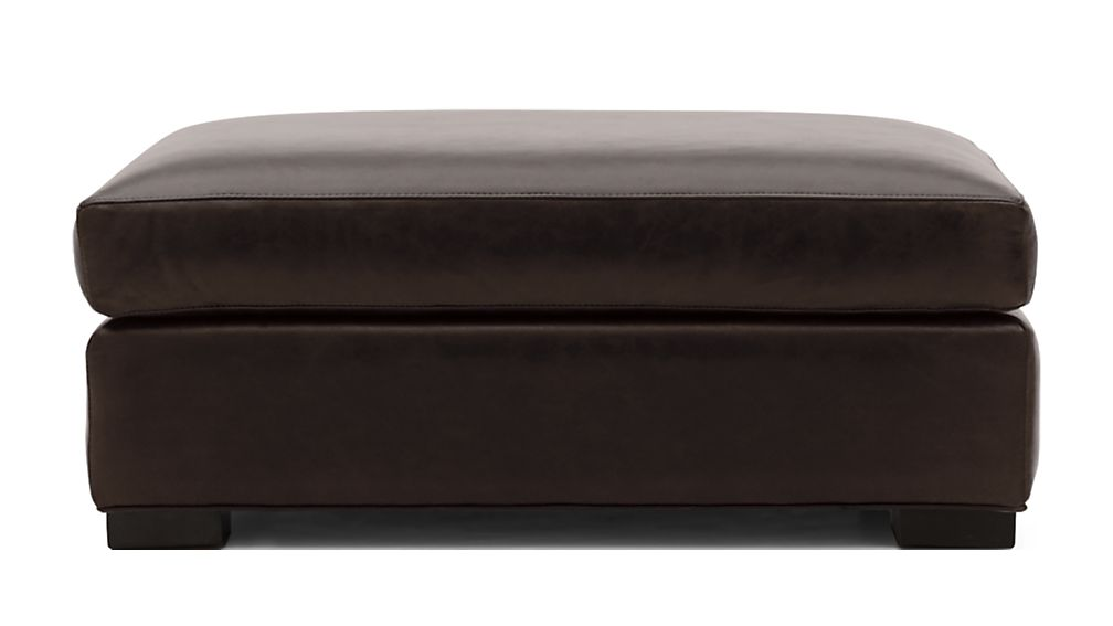 Axis II Leather Ottoman and a Half - Image 2 of 3
