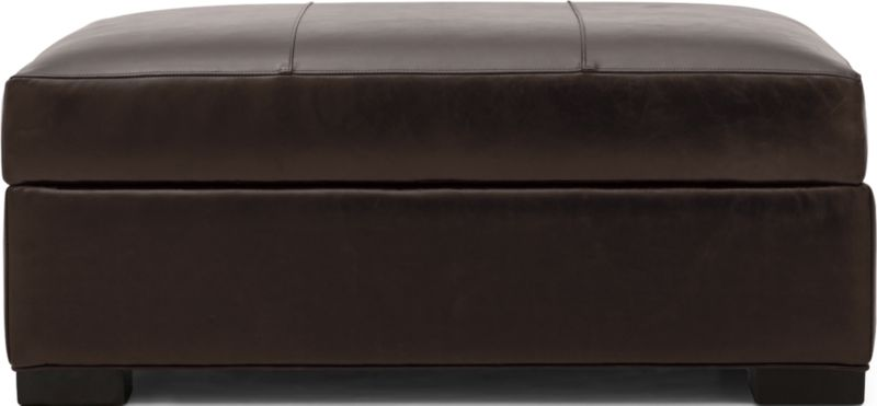 Axis II Leather Storage OttomanCrate and Barrel