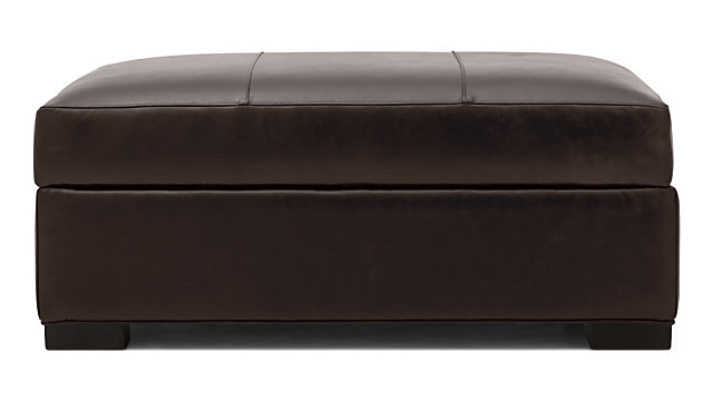 Axis II Leather Storage Ottoman shown in Libby, Espresso