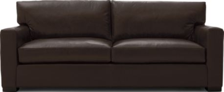 Axis II Leather 2-Seat Queen Sleeper Sofa shown in Libby, Espresso