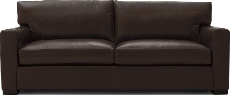 Axis Ii Brown Leather Queen Sleeper Sofa Reviews Crate