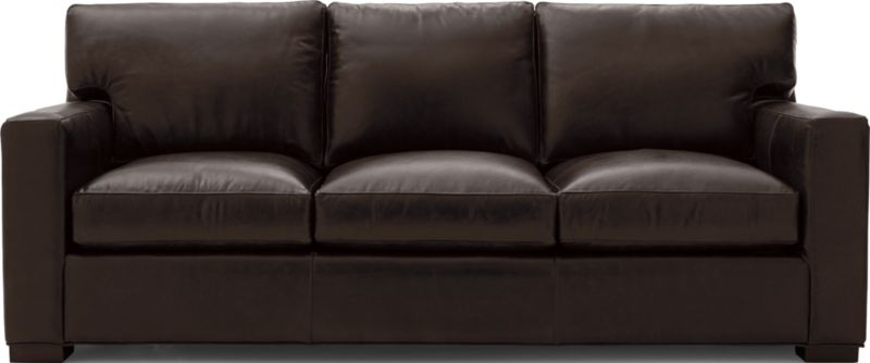 Axis Ii Dark Brown Leather Queen Sleeper Sofa Reviews Crate And