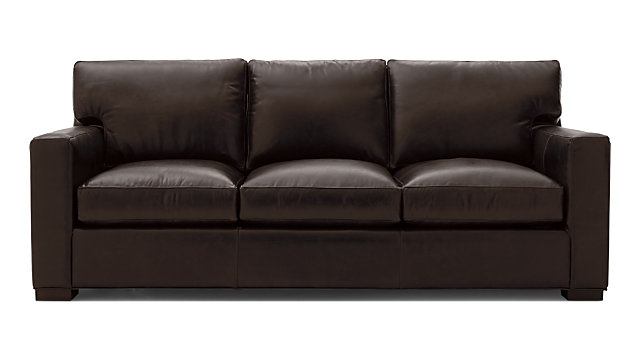 Axis II Leather Queen Sleeper Sofa with Air Mattress | Crate and Barrel
