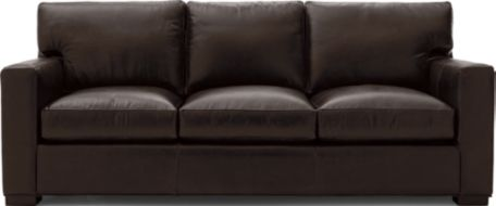 Axis II Leather 3-Seat Queen Sleeper Sofa with Air Mattress shown in Libby, Espresso