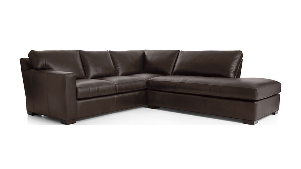 Axis II Leather 2-Piece Right Bumper Sectional Sofa - Image 2 of 2