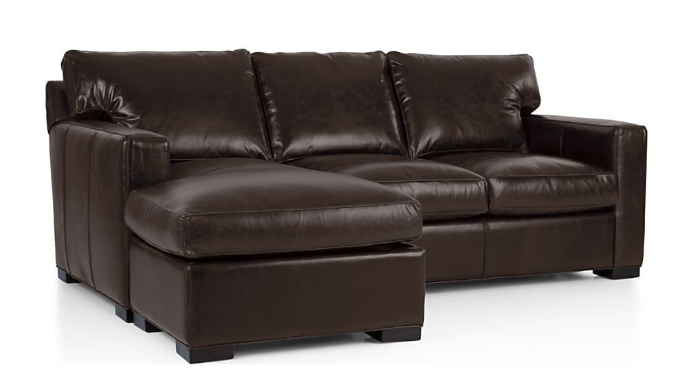 Axis II Leather Left Arm Queen Sleeper Lounger with Air Mattress - Image 2 of 7