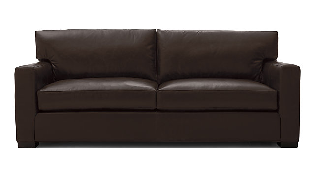 Axis II Leather 2-Seat Sofa shown in Libby, Espresso