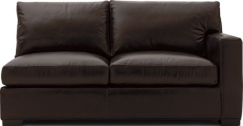 Axis II Leather Right Arm Apartment Sofa shown in Libby, Espresso