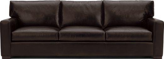 "Axis II Leather 3-Seat 105"" Grande Sofa shown in Libby, Espresso"