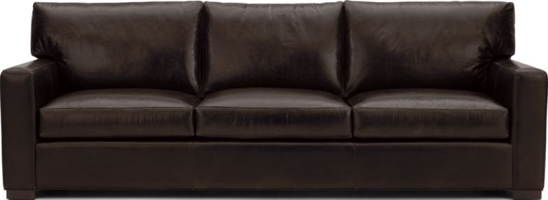 Axis Ii Brown Leather 3 Seat Sofa Reviews Crate And Barrel